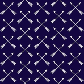 White on Navy Cross Arrow