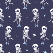 Dancing Skeletons Halloween Seamless Pattern. Costume