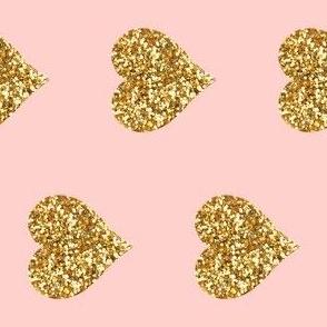 Railroaded Glitter Hearts on Pink
