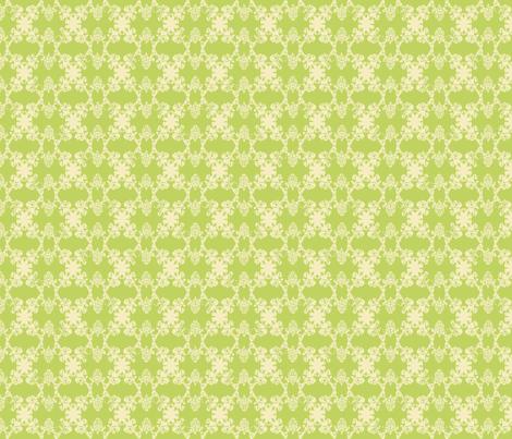 Daphne - Lime & Vanilla fabric by jodiebarker on Spoonflower - custom fabric