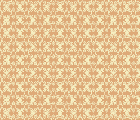 Daphne - Camel & Vanilla fabric by jodiebarker on Spoonflower - custom fabric