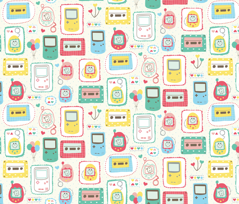 Lovely Nineties fabric by maeli on Spoonflower - custom fabric