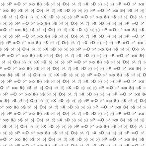 Emoticons plain screen