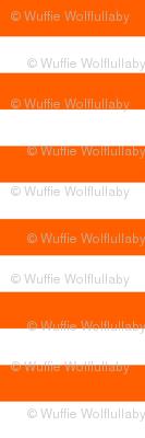 Stripes - Horizontal - 1 inch (2.54cm) - White (#FFFFFF) & Orange (#FF5F00)