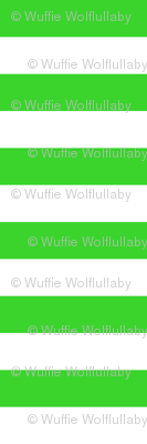 Stripes - Horizontal - 1 inch (2.54cm) - White (#FFFFFF) & Green (#3AD42D)