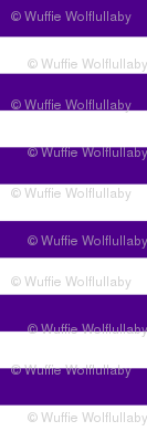 Stripes - Horizontal - 1 inch (2.54cm) - White (#FFFFFF) & Purple (#4D008A)