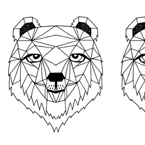 bear // geo bear plush plushie cut and sew kids nursery black and white nursery geometric