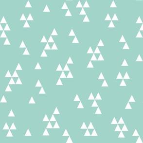 simple triangle // mint kids baby triangle nursery