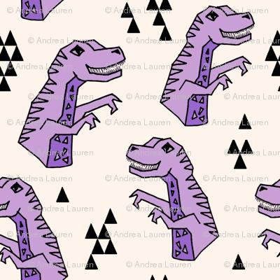 dinosaurs // small dino dinosaurs purple kids trex prehistoric jurassic t-rex
