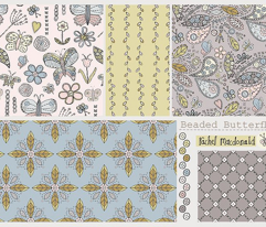 Paisley butterfly garden - grey