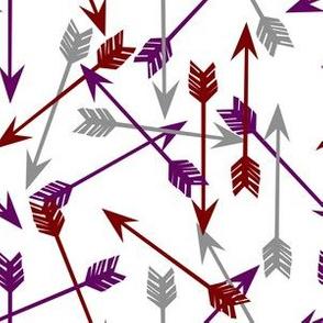 arrows scattered // plum burgundy grey jewel tone southwest girly arrows