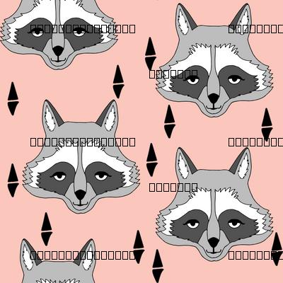raccoon // pastel pink girls print for sweet little girls clothes girls room baby girl crib bedding