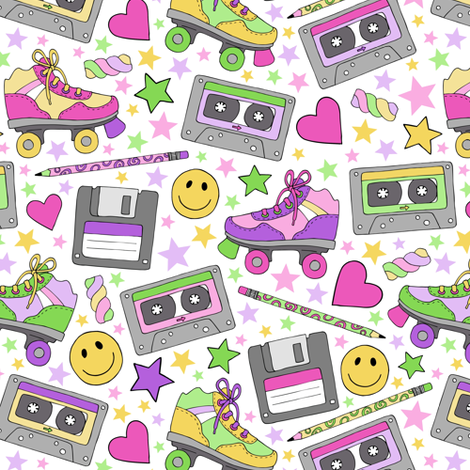 90s nostalgia fabric by hazel_fisher_creations on Spoonflower - custom fabric