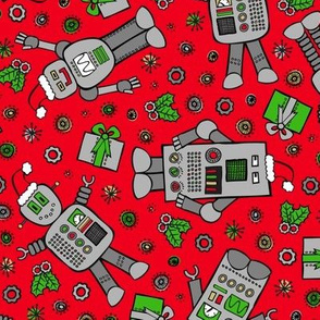 Merry Robots (Red)