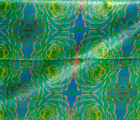 Cactus in Blues #1 Kaleidoscope
