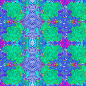 Cactus in Blues #2a Kaleidoscope