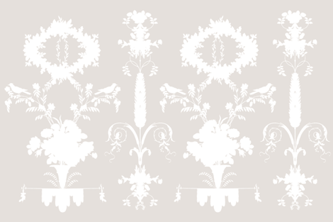 Rococo Garden in Belgian Linen fabric by lilyoake on Spoonflower - custom fabric