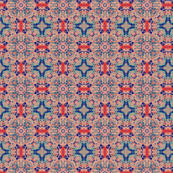 Red Blue Repeat Pattern