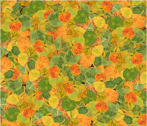 Aspen Leaves fabric by wenmarstar on Spoonflower - custom fabric