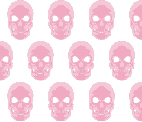 Pink Skull fabric by lareieli on Spoonflower - custom fabric