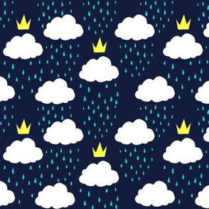 Royal Rain Clouds (Blue)