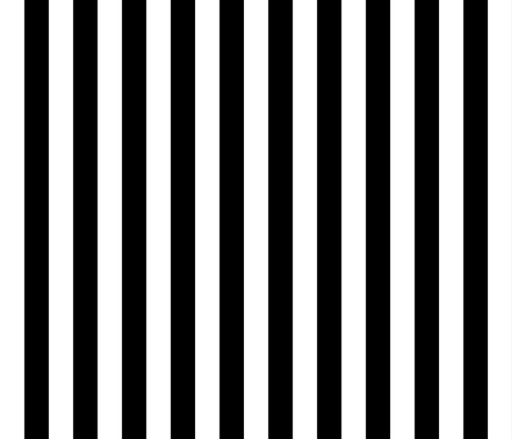 Stripes - Vertical - 1 inch (2.54cm) - Black (#000000) & White (#FFFFFF) fabric by elsielevelsup on Spoonflower - custom fabric