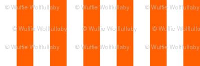 Stripes - Vertical - 1 inch (2.54cm) - Orange (#FF5F00) & White (#FFFFFF)