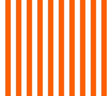 Stripes - Vertical - 1 inch (2.54cm) - Orange (#FF5F00) & White (#FFFFFF) fabric by elsielevelsup on Spoonflower - custom fabric