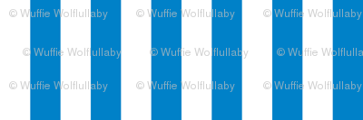 Stripes - Vertical - 1 inch (2.54cm) - Bright Blue (#0081C8) & White (#FFFFFF)
