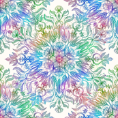 Nature Mandala in Rainbow Hues