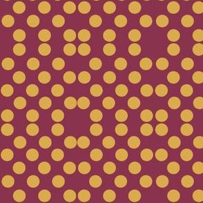 Polka Dots in Burg/Gold