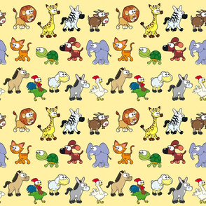 Group of animals with background