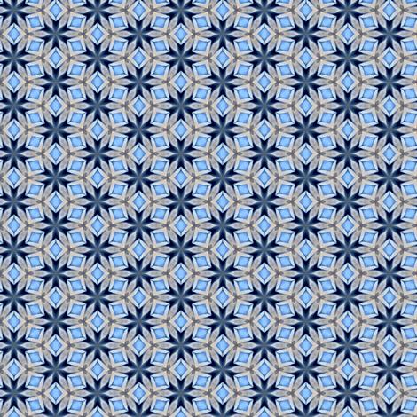 Blue Geometric fabric by bahrsteads on Spoonflower - custom fabric