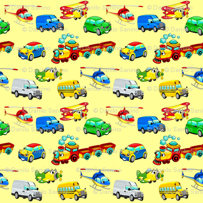 Funny vehicles with background