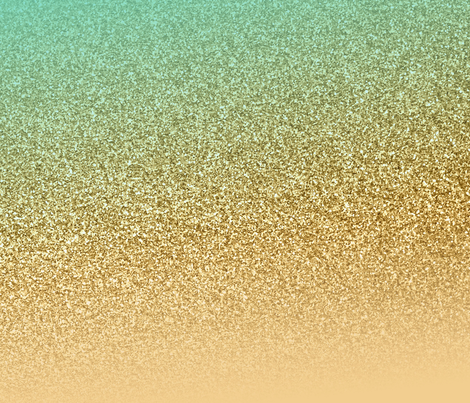 Glitter Gold Aqua Blue Gradient Wallpaper Heatherdoucette