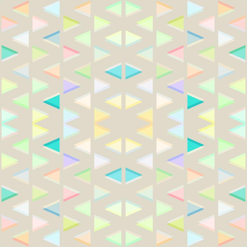 Pastel Neon Triangles on Beige wallpaper - micklyn - Spoonflower