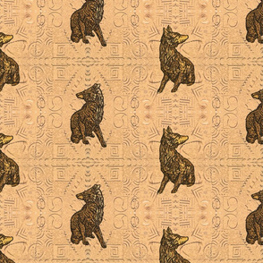 Coyote just in tile - sandstone gold