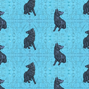 Coyote just in tile - aqua pewter