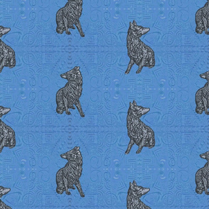 Coyote just in tile - deep blue quick silver