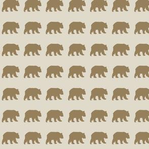 Mountain Brown Grizzly Bear on Khaki
