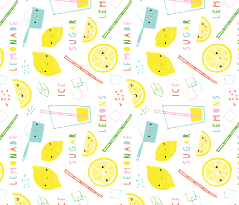 lemonade time rotate fabric by shindigdesignstudio on Spoonflower - custom fabric