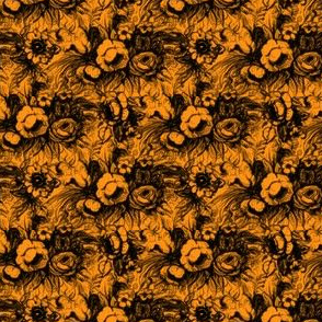 Grunge Floral Gold - Fall