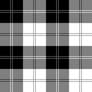 Ramsay Tartan Black and White