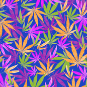 Colorful Marijuana Leaves