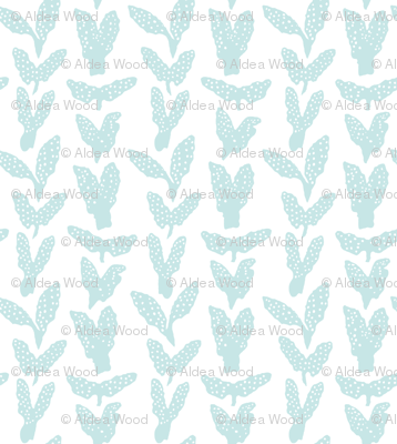 Seaweed Chevron seafoam on white
