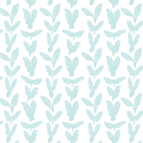 Seaweed Chevron seafoam on white fabric by aldea on Spoonflower - custom fabric