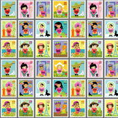 Wee World Children Stamps