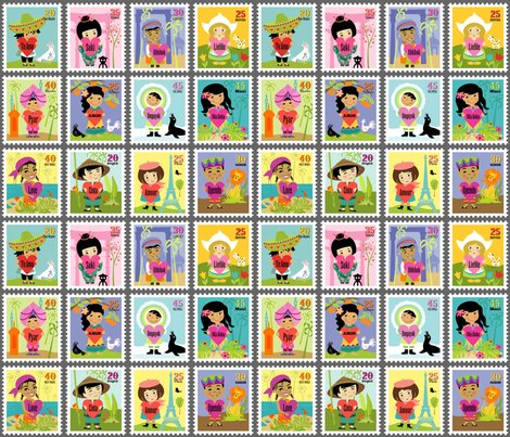 Wee world children stamps fabric sheri mcculley for Children of the world fabric