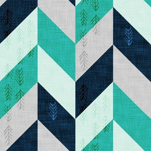 Desert Chevron (Aqua LARGE)