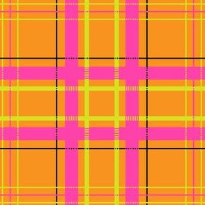 Mad Plaid in Tangerine